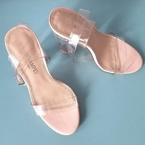 Revamped Clear Strap Sandals Size 6